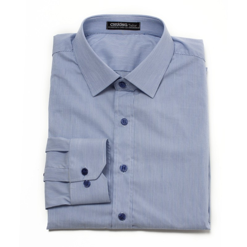 Light Blue Striped Shirt - Efaisto